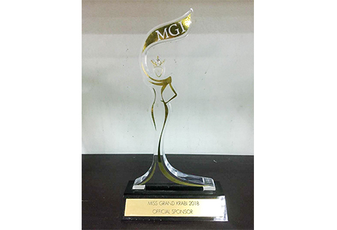 Trophy from the Miss Grand Krabi Contest 2018